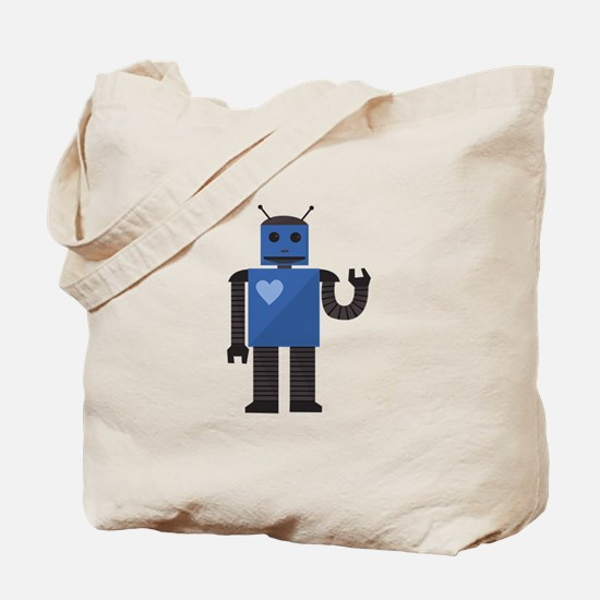 Heart Android Tote Bag