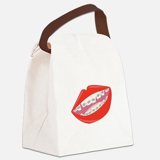 Braces Teeth Canvas Lunch Bag
