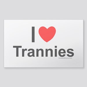 Trannies Sticker (Rectangle)