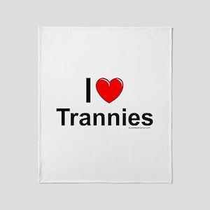 Trannies Throw Blanket