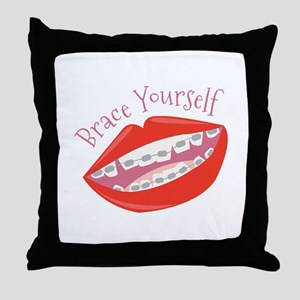 Brace Yourself Throw Pillow