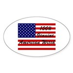 100% American Witch Oval Sticker