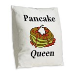 Pancake Queen Burlap Throw Pillow
