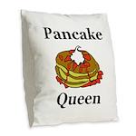 Pancake Queen Burlap Throw Pillow