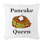 Pancake Queen Woven Throw Pillow