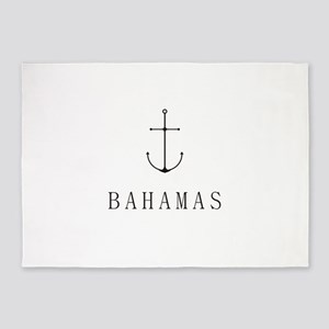 Bahamas Sailing Anchor 5'x7'Area Rug