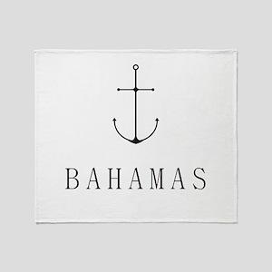 Bahamas Sailing Anchor Throw Blanket