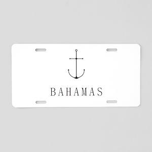 Bahamas Sailing Anchor Aluminum License Plate