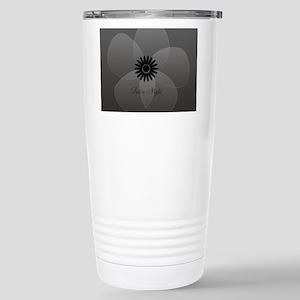 Chic Glam Grey Flower Stainless Steel Travel Mug
