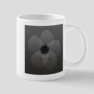 Chic Glam Grey Flower Mug