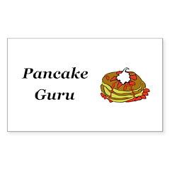Pancake Guru Sticker (Rectangle 10 pk)