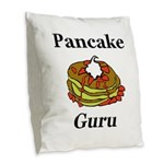 Pancake Guru Burlap Throw Pillow