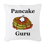 Pancake Guru Woven Throw Pillow