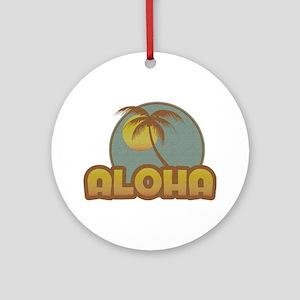 Aloha Palm Ornament (Round)