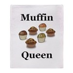 Muffin Queen Throw Blanket