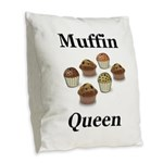 Muffin Queen Burlap Throw Pillow