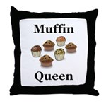 Muffin Queen Throw Pillow