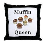 Muffin Queen Throw Pillow