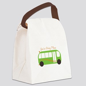Going Places Canvas Lunch Bag