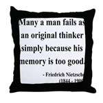 Nietzsche 20 Throw Pillow