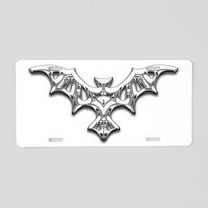 One Metal Bat Aluminum License Plate