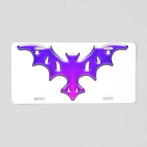 One Purple Bat Aluminum License Plate