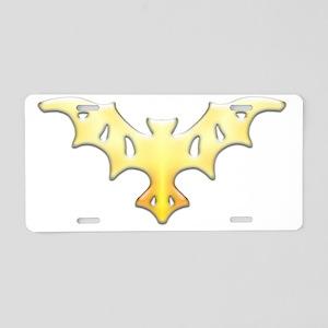 One Sun Bat Aluminum License Plate
