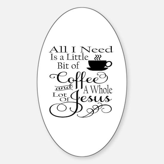 Cute Funny christian Sticker (Oval)