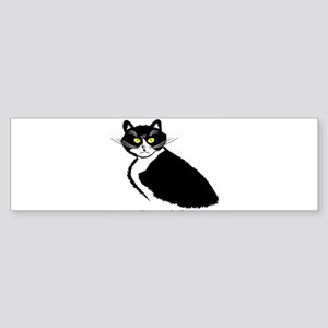 Tuxedo Cat Bumper Sticker