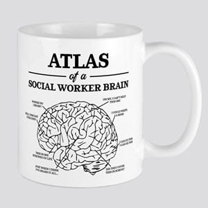 Atlas of a Social Worker Brain 11 oz Ceramic Mug