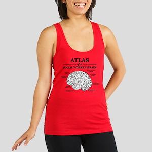 Atlas of a Social Worker Brain Racerback Tank Top
