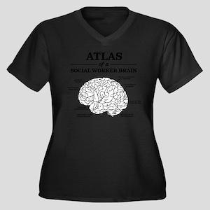 Atlas of a S Women's Plus Size V-Neck Dark T-Shirt
