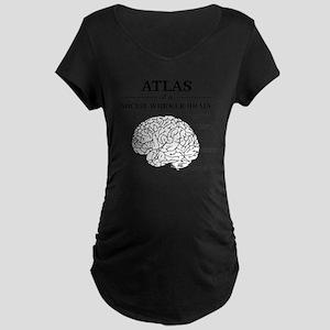 Atlas of a Social Worker Br Maternity Dark T-Shirt
