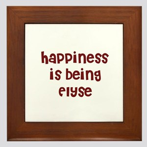 happiness is being Elyse Framed Tile