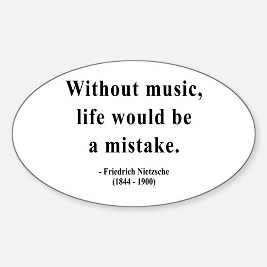 Nietzsche 22 Oval Decal