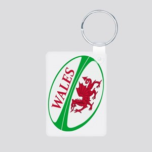 Wales Rugby Ball Aluminum Photo Keychain Keychains