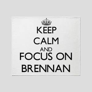 Keep calm and Focus on Brennan Throw Blanket