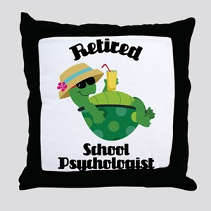 Retired School Psychologist Throw Pillow