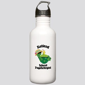 Retired School Psychol Stainless Water Bottle 1.0L