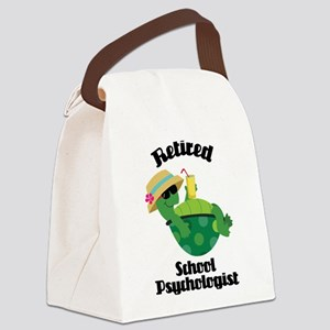 Retired School Psychologist Canvas Lunch Bag