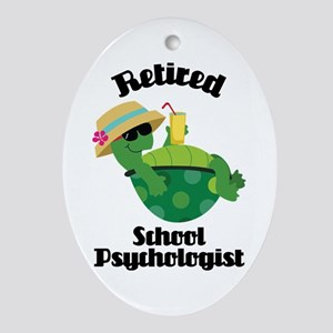 Retired School Psychologist Ornament (Oval)