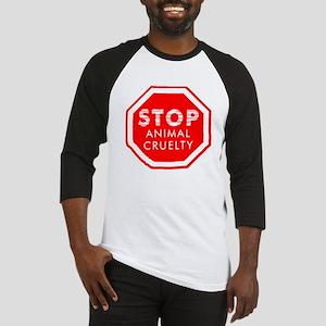Stop Animal Cruelty Baseball Jersey