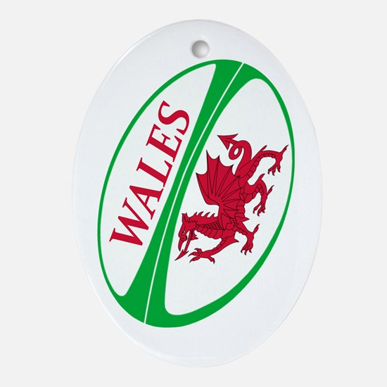 Wales Rugby Ball Oval Ornament