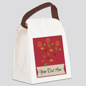 Giving Thanks Floral Canvas Lunch Bag