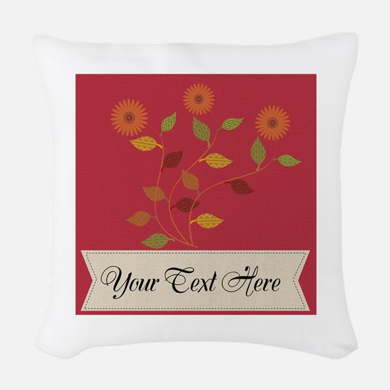 Giving Thanks Floral Woven Throw Pillow