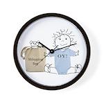 Jewish Baby Wall Clock