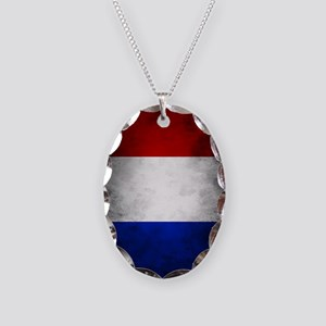 Grunge French Flag Necklace