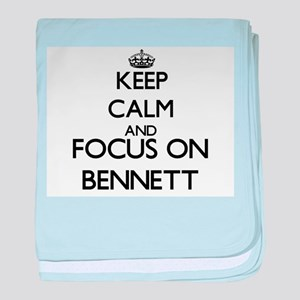 Keep calm and Focus on Bennett baby blanket