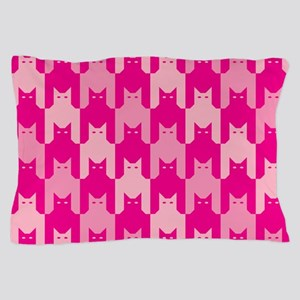 Pink CatsTooth Pillow Case