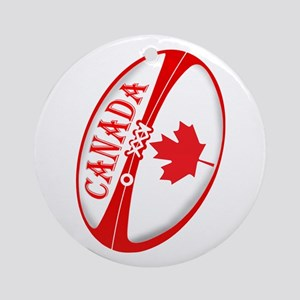 Canadian Rugby Ball Ornament (Round)
